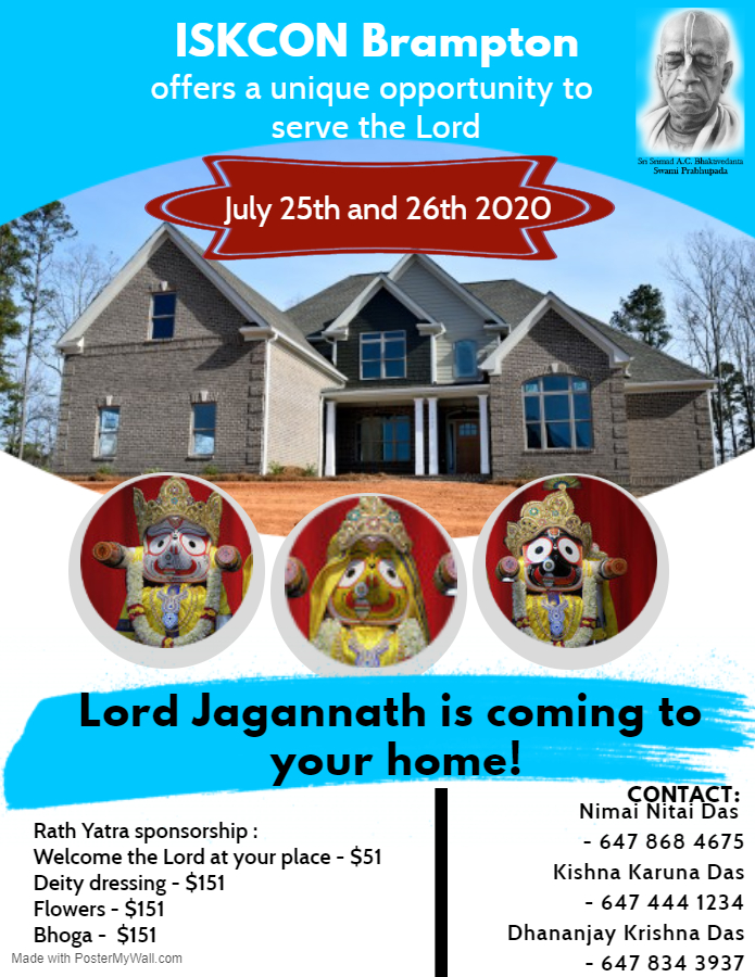 Lord Jagannath is Coming to Your Home!