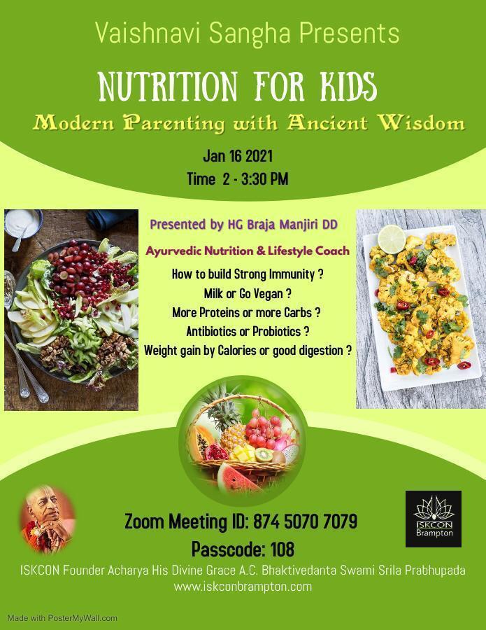 Vaishnavi Sangha: Nutrition For Kids
