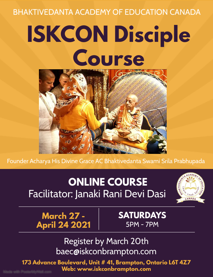 ISKCON Disciple Course