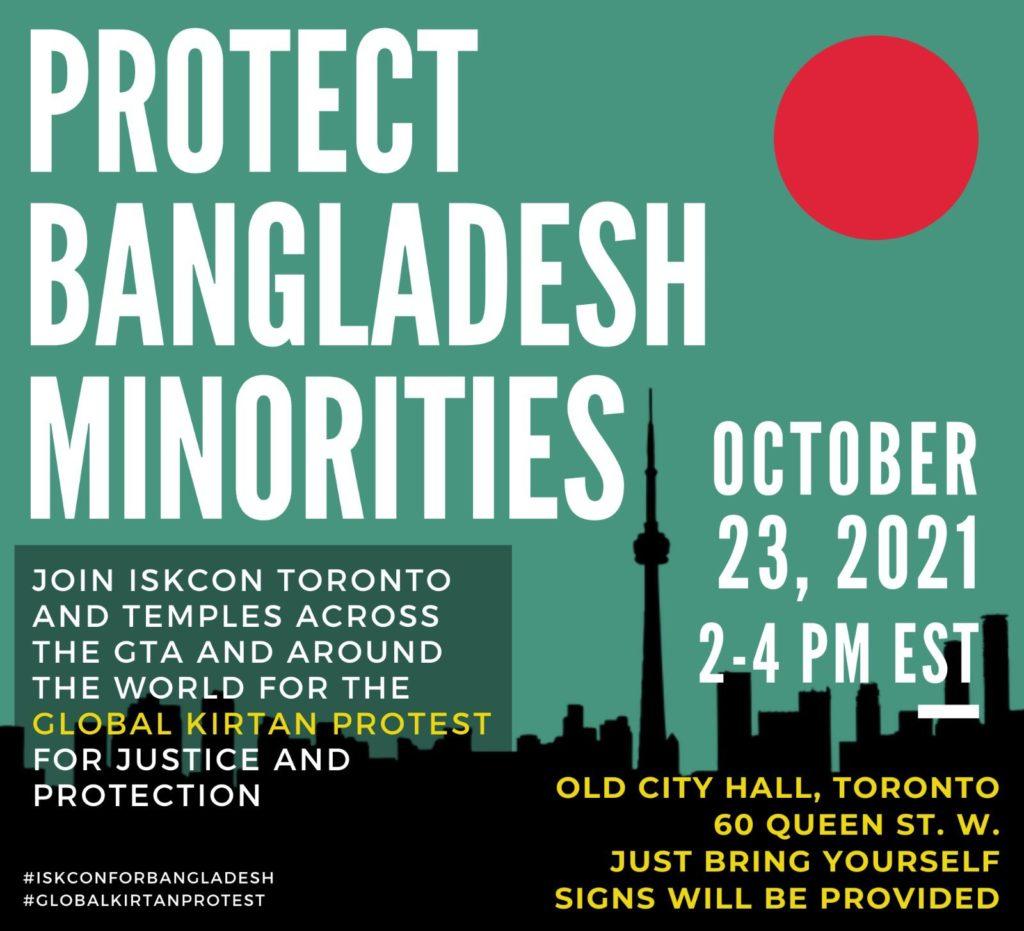 Join ISKCON Toronto - Protect Bangladesh Minorities